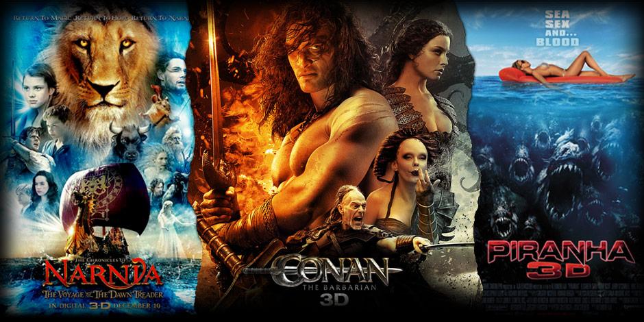 Narnia, Conan, Piranha
